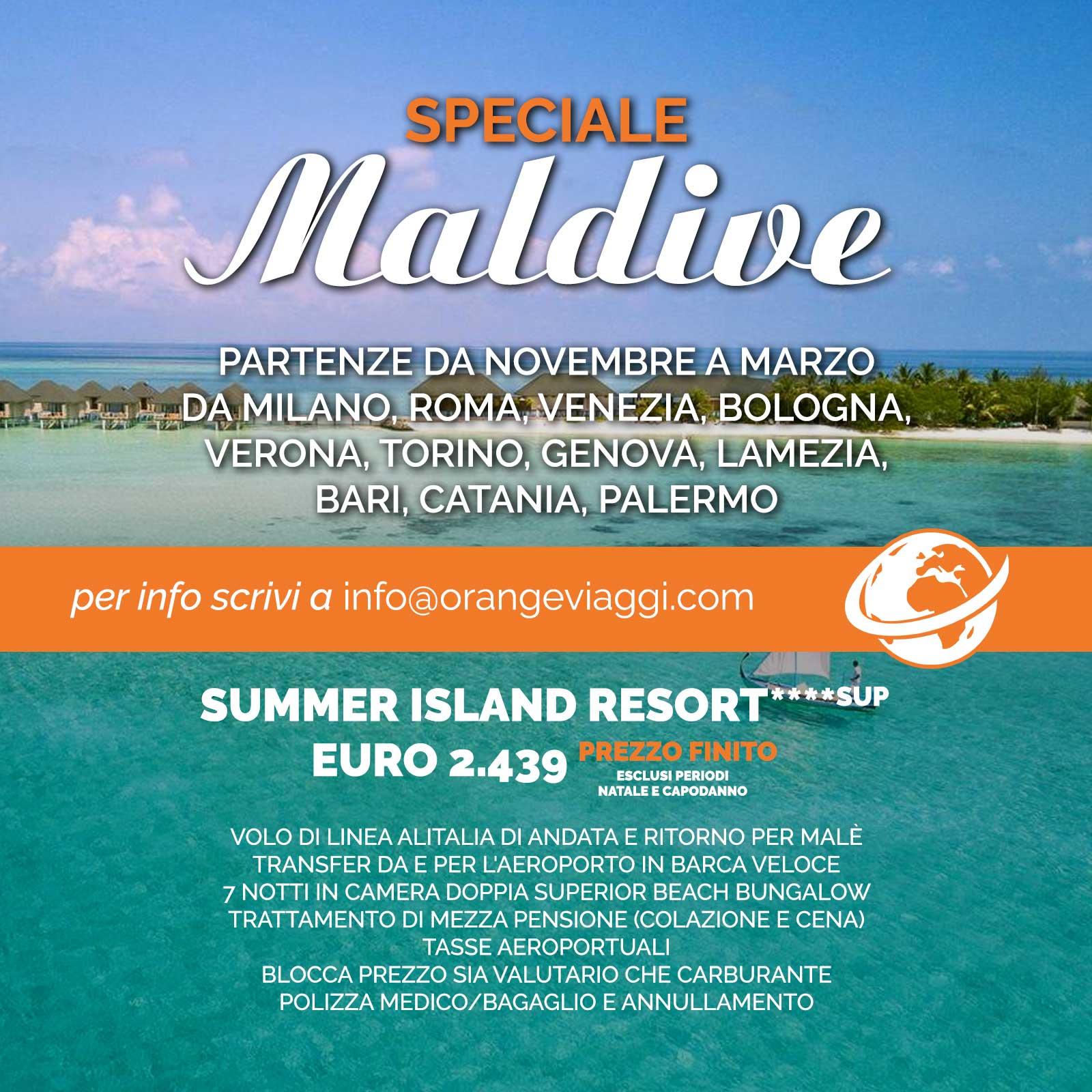 Offerta Speciale Maldive Summer Island Resort | Orange Viaggi