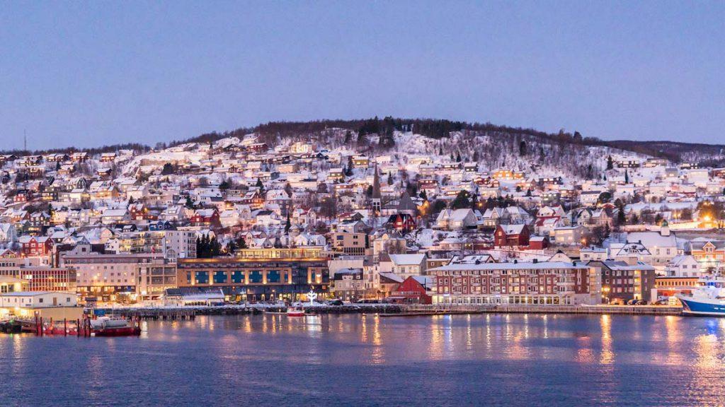 Capodanno in Norvegia Tramonto a Tromsø