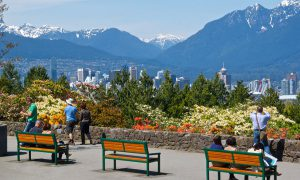 Admiring the city view from Little Mountain, Queen Elizabeth Park, Vancouver BC