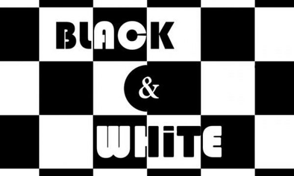 black and white disco party