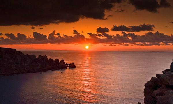 malta armier beach tramonto