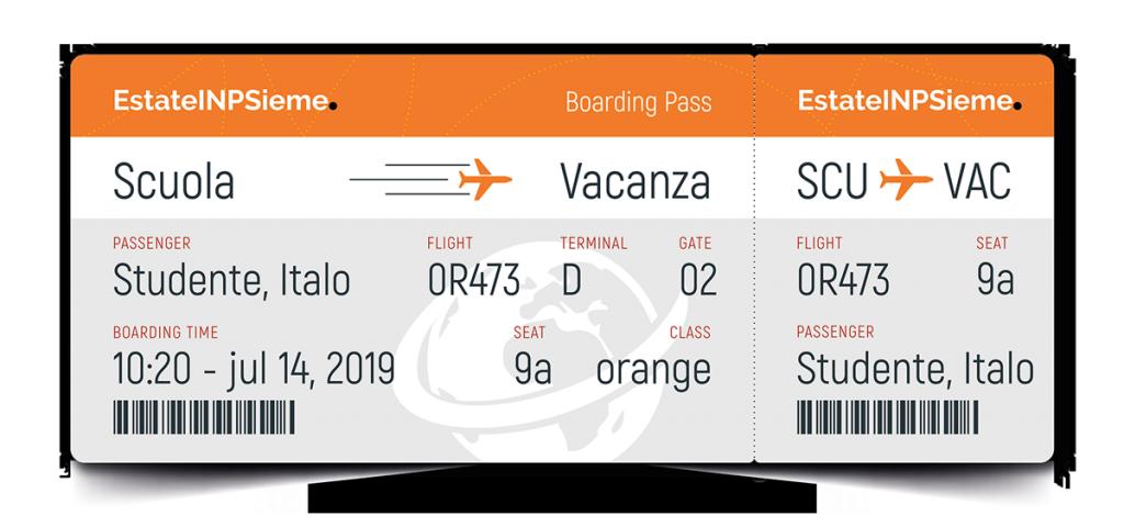 Carta d'imbarco Estate INPSieme 2019