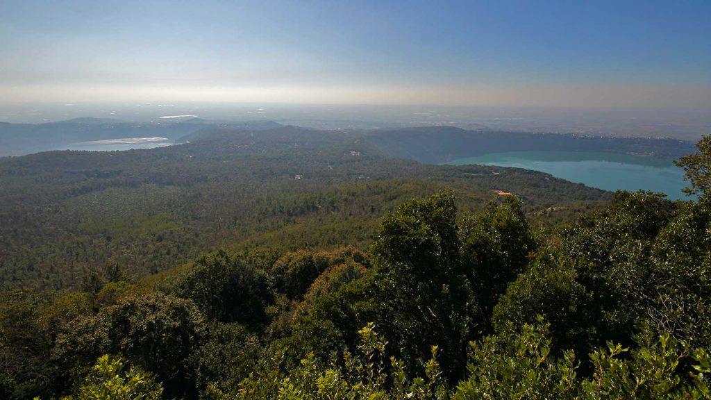 veduta sul Lago Albano e Lago di Nemi
