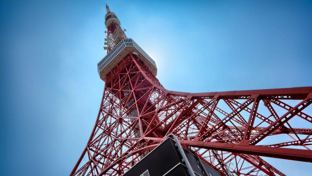 tokyo tower di giorno