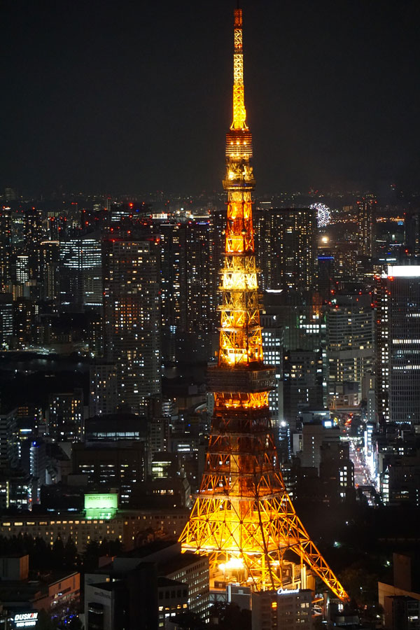 tokyo tower di notte verticale